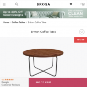 Britton Coffee Table (genuine walnut) Now $249.00 Deal Image