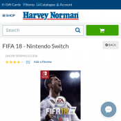 FIFA 18 - Nintendo Switch $47