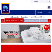 ALDI Special Buys Winter Bedding Prices starting from $12.99 Deal Image
