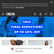 Final Reduction Sale: Up to 60% Off Storewide; T-Shirts $3; Accessories $4 @ASOS Deal Image