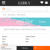 15% OFF Your Entire Purchase with code @Ezibuy (3 days only) Deal Image
