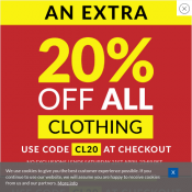An extra 20% OFF All Clothing with code @SportsDirect Deal Image