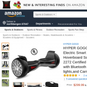 HYPER GOGO Hoverboard $284.99 (RRP $299.99) @Amazon Deal Image