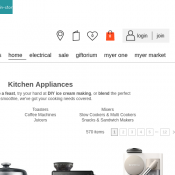 Hot Prices on Kitchen Appliances @Myer Deal Image