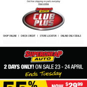 Supercheap Auto 2 Days Sale Engine Oil $29.99, Protectant $6.50 Deal Image