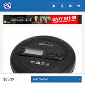 Groov-e GVPS210 Retro Series Personal CD Player with Radio  NOW $35.19 Deal Image