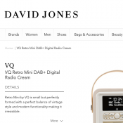 VQ Retro Mini DAB+ Digital Radio Cream $90.30 Deal Image