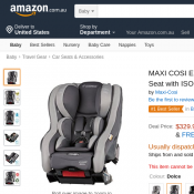 MAXI COSI Euro Nxt Convertible Car Seat w/ ISOFIX, 0-4 years $329.99 Deal Image