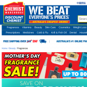 Mother's Day Fragrance Sale up to 80% OFF RRP @Chemist warehouse Deal Image