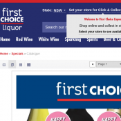 First Choice Liquor Catalogue - Wines start from $7 Deal Image