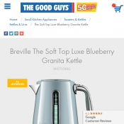 Breville The Soft Top Luxe Blueberry Granita Kettle $89 Deal Image