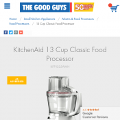 KitchenAid 13 Cup Classic Food Processor $199 only Deal Image