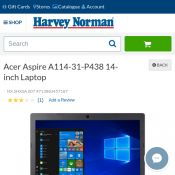 Acer Aspire A114-31-P438 14-inch Laptop $396 (RRP $446) @Harvey Norman Deal Image