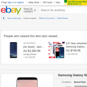 Samsung Galaxy S8 $640.08 (RRP $1199) @Ebay Deal Image
