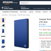 Seagate Backup Plus Portable Drive 2TB $117.00 w/ Free Delivery @ Amazon Deal Image