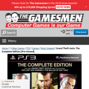 Grand Theft Auto: The Complete Edition $9 (pre-owned) Deal Image