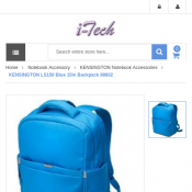 "KENSINGTON LS150 Blue 15in"" Backpack $17 Deal Image"