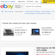 Dell Inspiron 15 7000 Gaming Core i7 $1095.2 (RRP $1699) @Ebay Deal Image