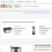New New Breville the Smart Grinder Pro 1 $159 (RRP $199) @Ebay Deal Image