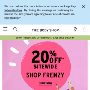 The Body Shop - Click Frenzy Mayhem: 20% Off Storewide   Deal Image
