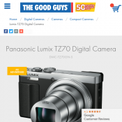 Panasonic Lumix TZ70 Digital Camera $339.00 Deal Image