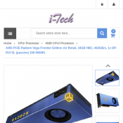 AMD PCIE Radeon Vega Frontier Edition Air Retail, 16GB HBC $641.00 Deal Image