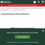Long Womens Boardshorts  $10.99 Deal Image
