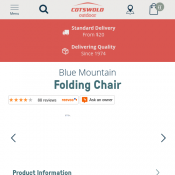 Blue Mountain Folding Chair $17.00 Deal Image