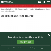 Slope Mens Knitted Beanie Was $26.99 Now $3.99 Deal Image