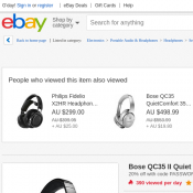 Bose QC35 II Quiet Comfort Noise Cancelling Wireless Headphone $368 (was  $499) @Ebay Deal Image