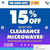 20% Off selected Electrolux, Miele, Vax & Volta Vacuums @The Good Guys Deal Image
