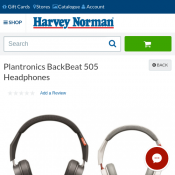 Plantronics BackBeat 505 Headphones $69  (RRP $139) @Harvey Norman Deal Image