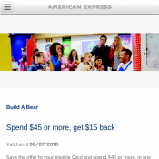 Build A Bear Spend $45 or more, get $15 back Deal Image
