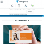 $10 Off, $25 Off, $40 Off & $75 Off @Vistaprint Deal Image