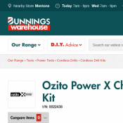 Ozito Power X Change 18V Brushless Twin Kit $149 (RRP $249) Deal Image