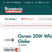 Osram 20W White Mini Twist Daylight Globe $2.95 (Was $5.19) @Bunnings Deal Image