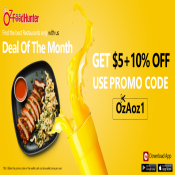 Get $5+10% off on your online food orders at Ozfoodhunter use voucher code - OzFoz1 Deal Image