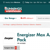 Energizer Max AAA Alkaline Batteries - 6 Pack $4.93 (Was $7.92) @Bunnings Deal Image