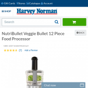 NutriBullet Veggie Bullet 12 Piece Food Processor $99 Deal Image