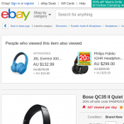Bose QC35 II Quiet Comfort Noise Cancelling Wireless Headphones Black $368 (RRP $499) @Ebay Deal Image