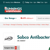 Sabco Antibacterial Cotton Mop $6.25 @Bunnings Deal Image