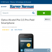 Optus Alcatel Pixi 3.5 Pre-Paid Smartphone $17 (RRP $60) @Harvey Norman Deal Image