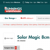 Solar Magic 8cm Path Light Crackle Ball $1.95 @Bunnings Deal Image