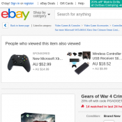 Gears of War 4 Crimson Omen Limited Edition Xbox Wireless Controller  $47.96 (RRP $89.95) @Ebay Deal Image