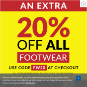 An Extra 20% OFF All Footwear with code @Sports Direct Deal Image