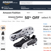 PUMA Men's King Ii Fg Blk-WHT, Black, Football Boots $60.49 (Was $327.33) @Amazon A.U Deal Image