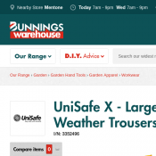 UniSafe X - Large Yellow PVC Wet Weather Trousers $4.80 (RRP $9.95) Deal Image