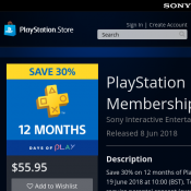 PlayStation Plus 12 Month Membership - 30% Off Now $55.95