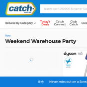 Warehouse Party Sale: Up to 80% Off @Catch Deal Image