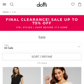 Final Clearance Sale: Up to 75% Off 100's of Items @Dotti Deal Image